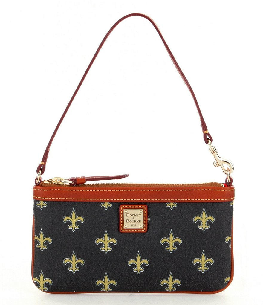 Dooney & Bourke NFL Collection New Orleans Saints Large Slim Wristlet