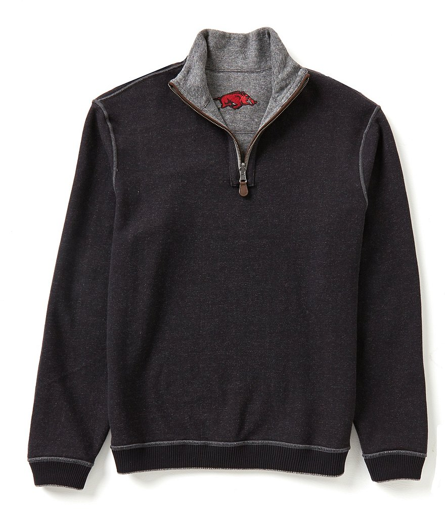 The Razorback Collection Half-Zip Reversible Elbow-Patch Arkansas Pullover