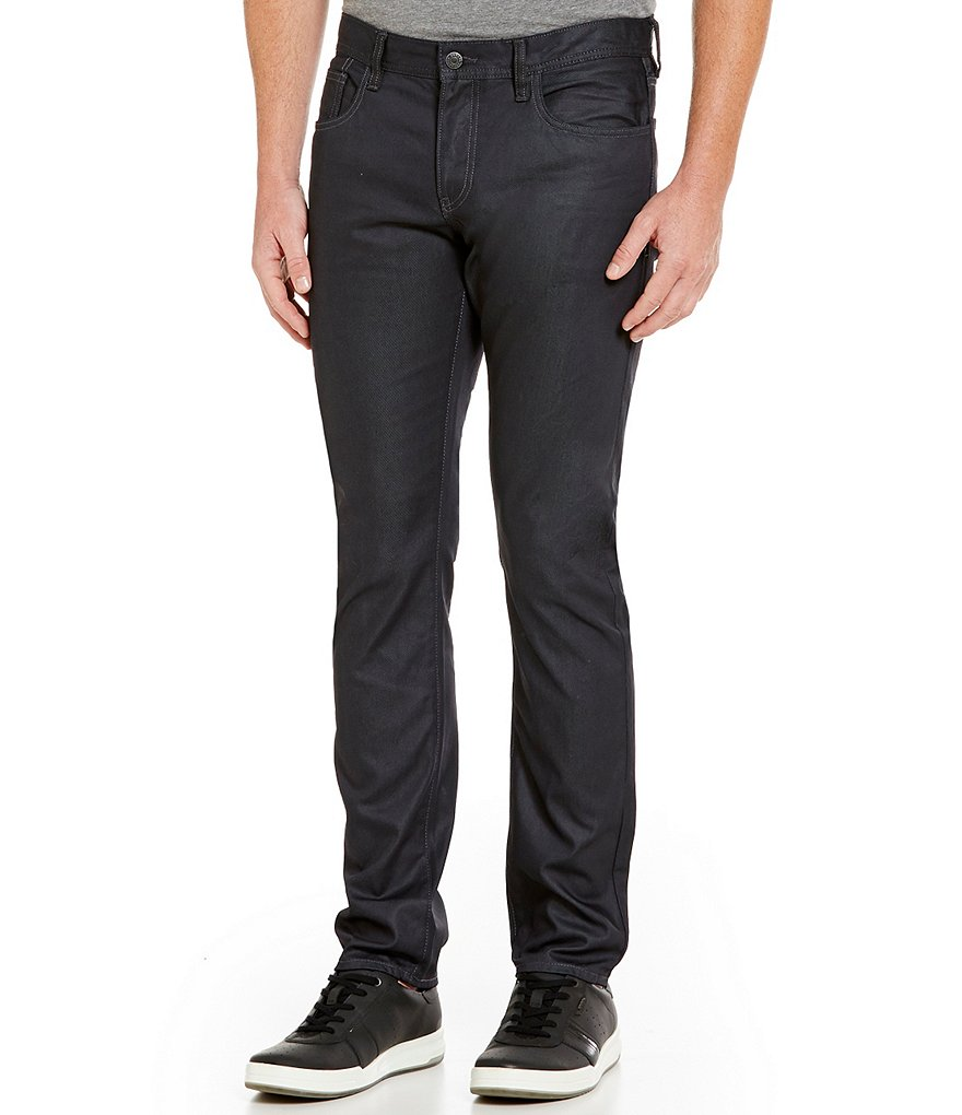 Armani Exchange Waxed Slim-Fit Jeans