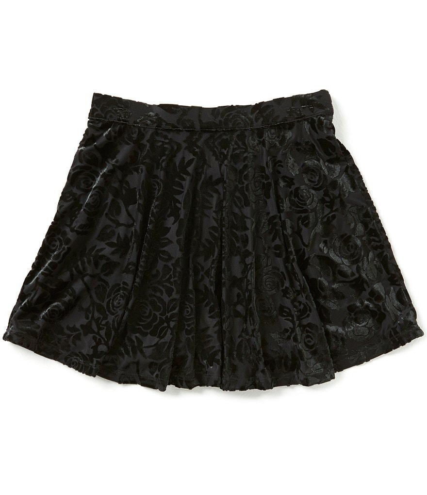 Jessica Simpson Big Girls 7-16 Emery Burnout Velour Skirt