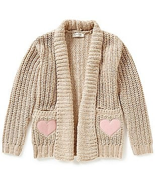 Jessica Simpson Big Girls 7-16 Julie Heart Pocket Cardigan