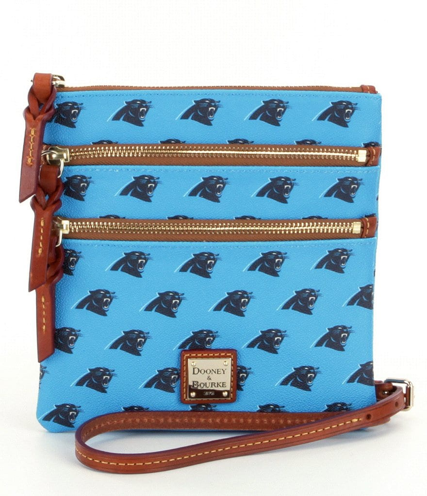 Dooney & Bourke NFL Collection Carolina Panthers Triple-Zip Cross-Body Bag