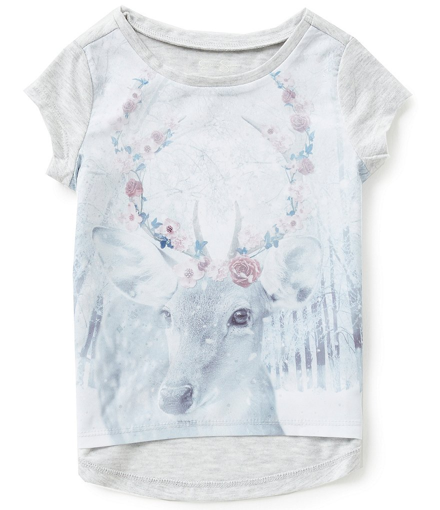 Jessica Simpson Little Girls 2T-6X Marie Snowy Forest Graphic Tee
