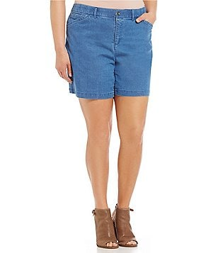 Intro Plus Hailey 5-Pocket Denim Twill Shorts