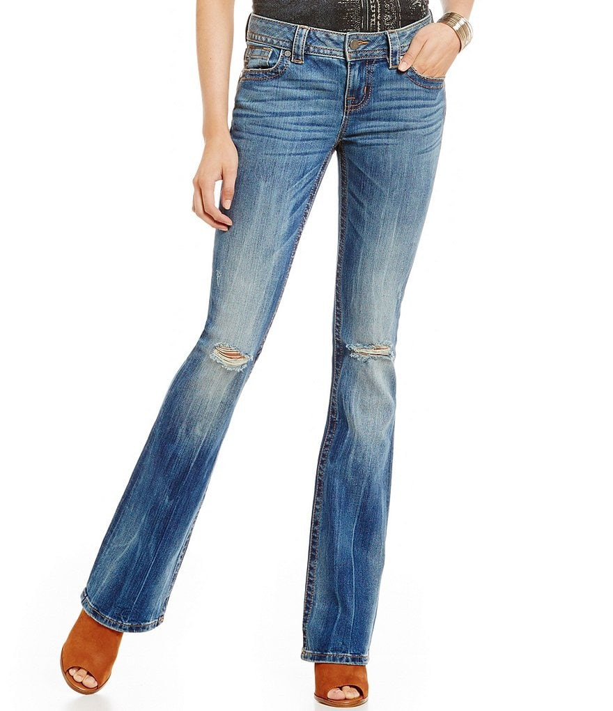 Miss Me Sandwashed Distressed Bootcut Jean