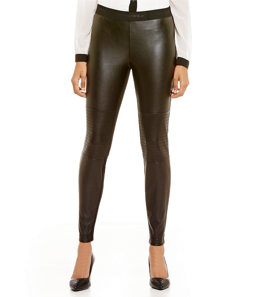KARL LAGERFELD PARIS Faux Leather Leggings