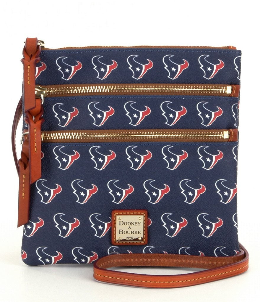 Dooney & Bourke NFL Collection Houston Texans Triple-Zip Cross-Body Bag