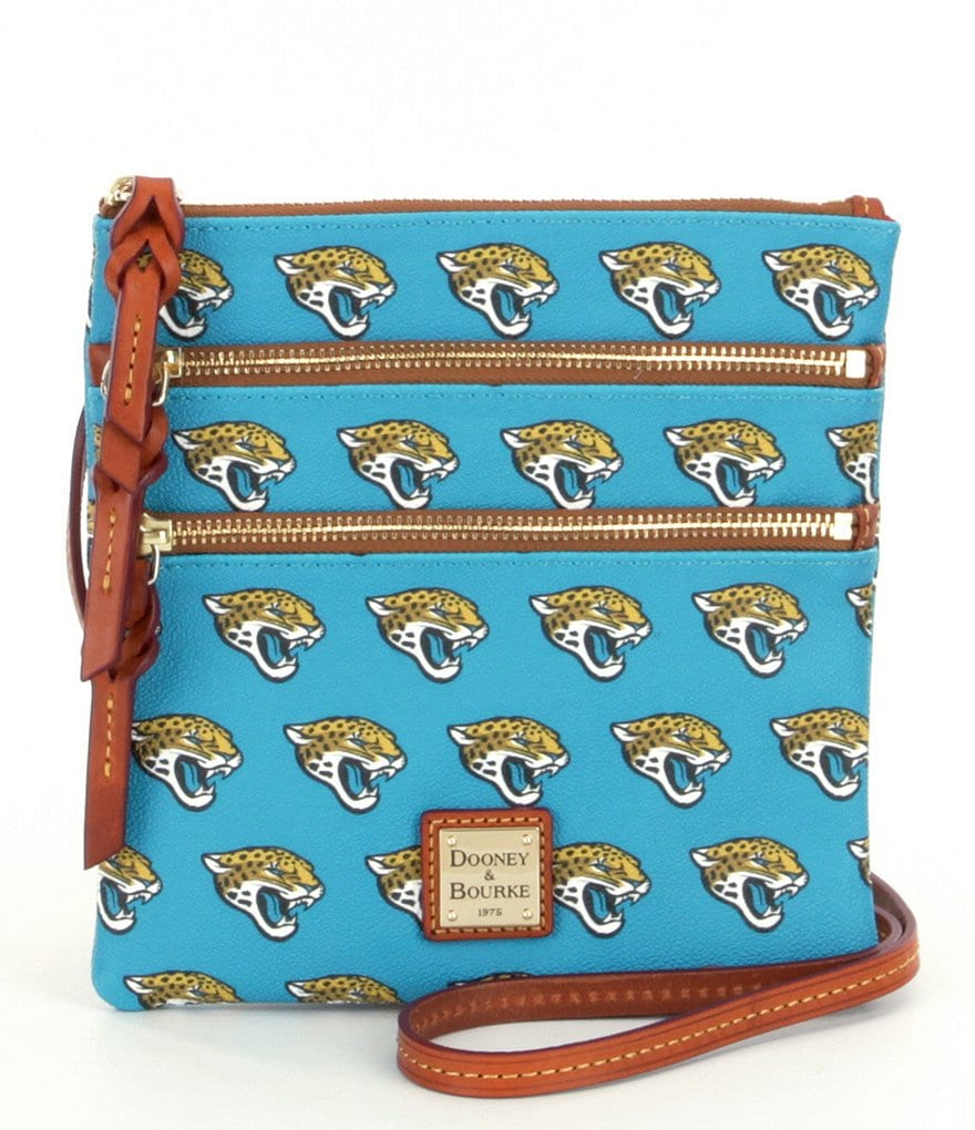 Dooney & Bourke NFL Collection Jacksonville Jaguars Triple-Zip Cross-Body Bag