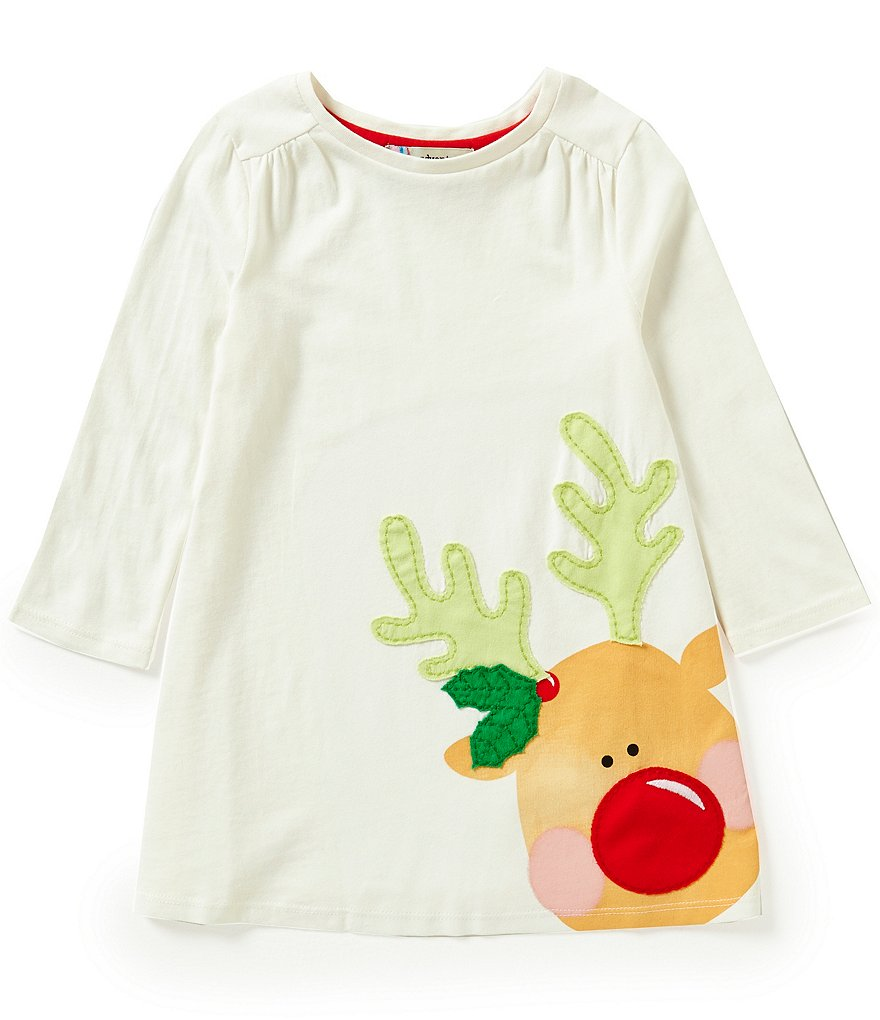 Adventure Wear by Copper Key Little Girls 2T-4T Christmas Reindeer Dress