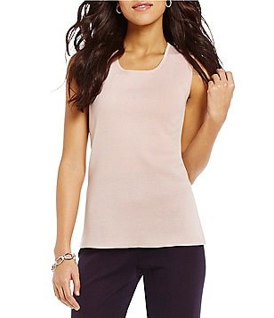 Misook Scoop Neck Tank