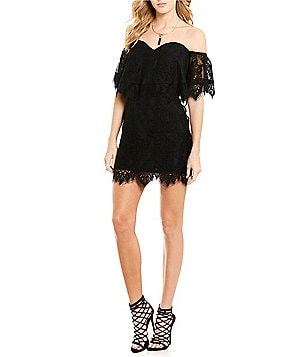 Lovers + Friends Lush Lace Sweetheart Off The Shoulder Dress
