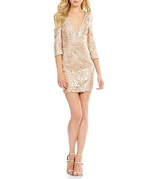 Lovers + Friends Fading Winter Sequin Dress