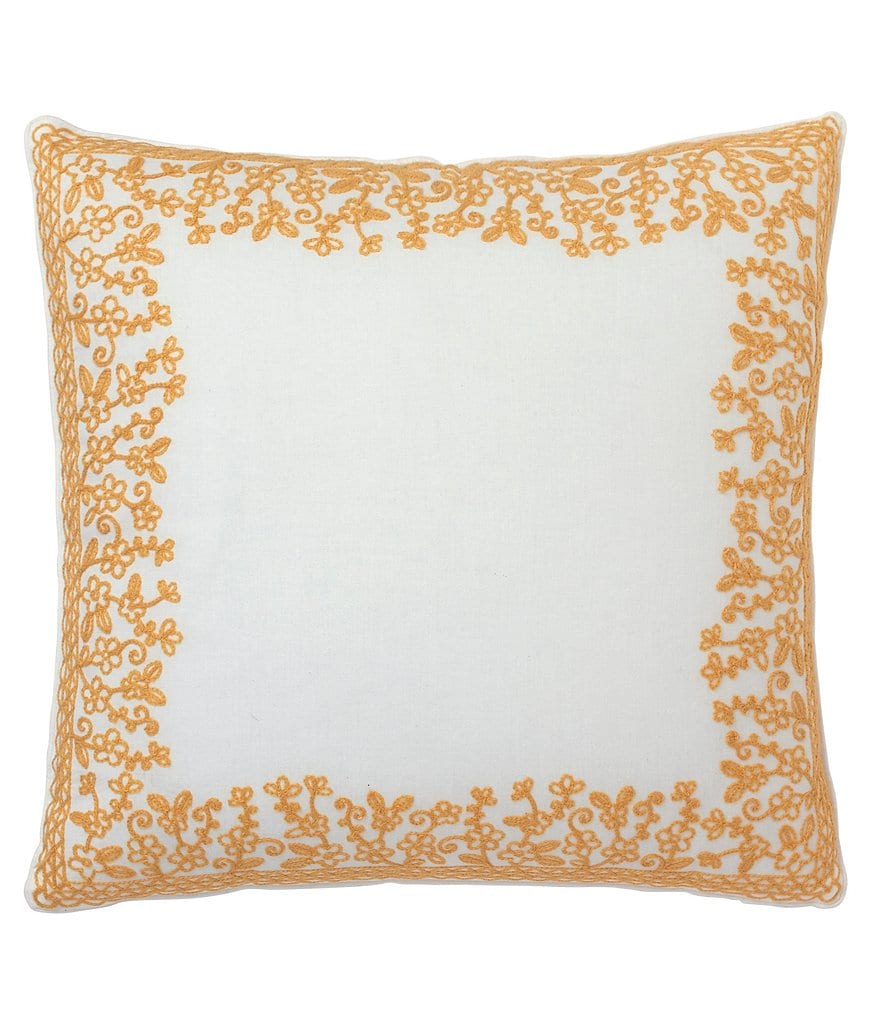 Dena Home Dream Floral-Embroidered Pillow