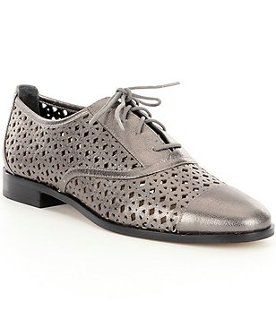 MICHAEL Michael Kors Sunny Metallic Leather Cutout Lace Up Oxfords
