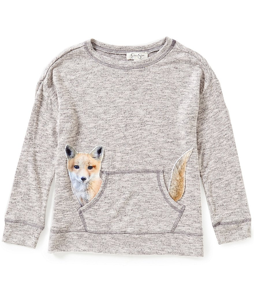 Jessica Simpson Little Girls 2T-6X Cinna Fox Graphic Long-Sleeve Top