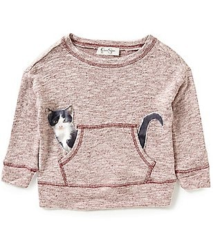 Jessica Simpson Little Girls 2T-6X Cinna Cat Long-Sleeve Top