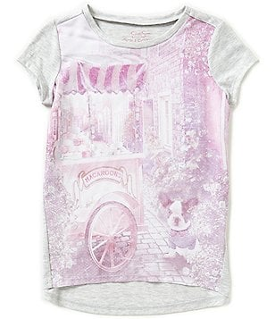 Jessica Simpson Little Girls 2T-6X Marie Graphic-Print High-Low Tee