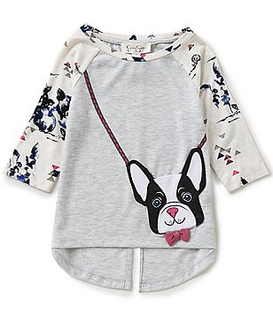 Jessica Simpson Little Girls 2T-6X Ella Frenchie Purse Long-Sleeve Tee