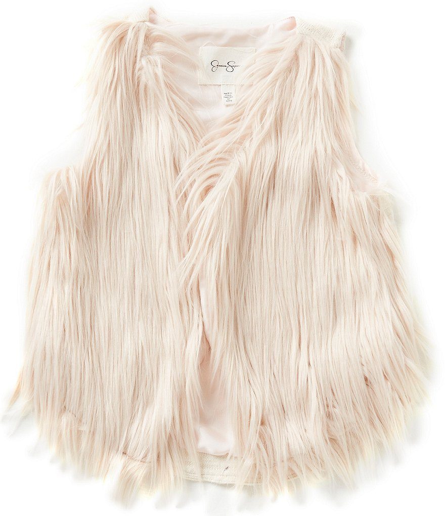 Jessica Simpson Big Girls 7-16 Gertrude Faux-Fur Vest