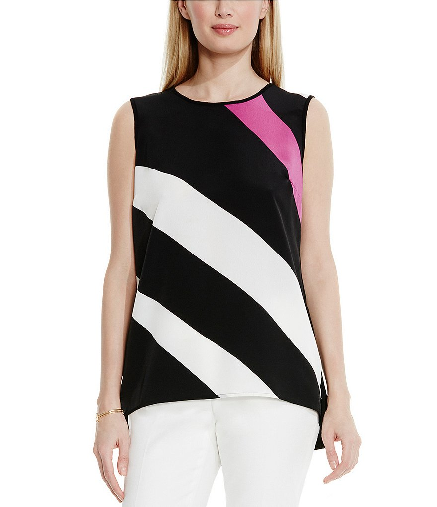 Vince Camuto Contour Glide Panel Mix Media Top