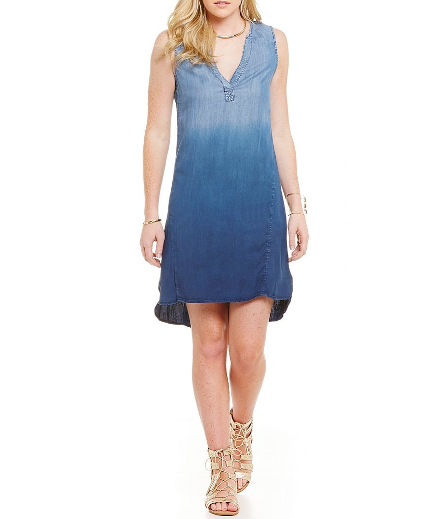 C&V Chelsea & Violet Ombre Chambray Dress