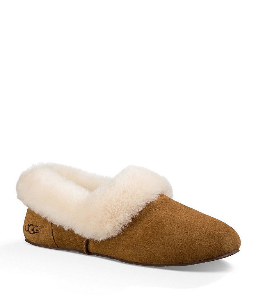 UGG® Kendyl Suede Sheepskin Collar Slippers