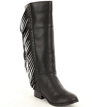 Steve Madden Girls´ J-Tarlii Fringe Riding Boots