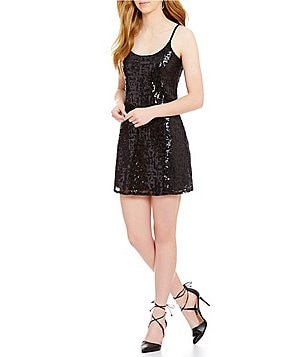 devlin Bethany Sequin Sleeveless Dress