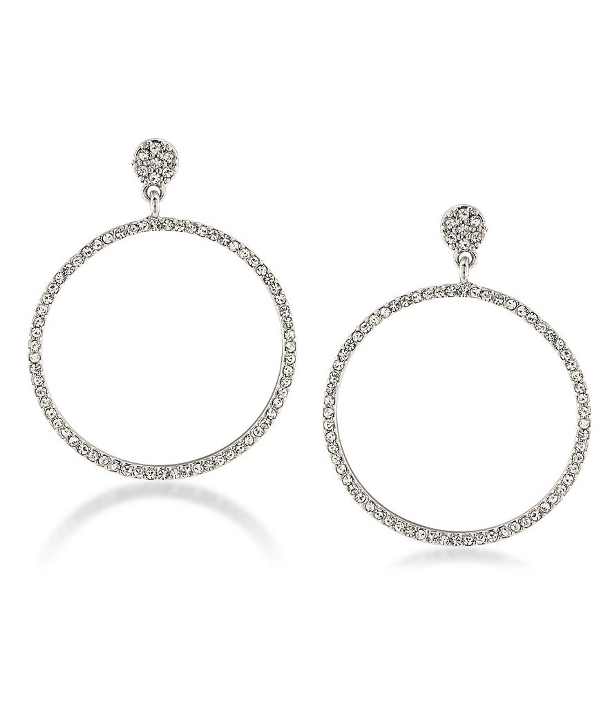 Carolee East Side Pavé Gypsy Hoop Earrings