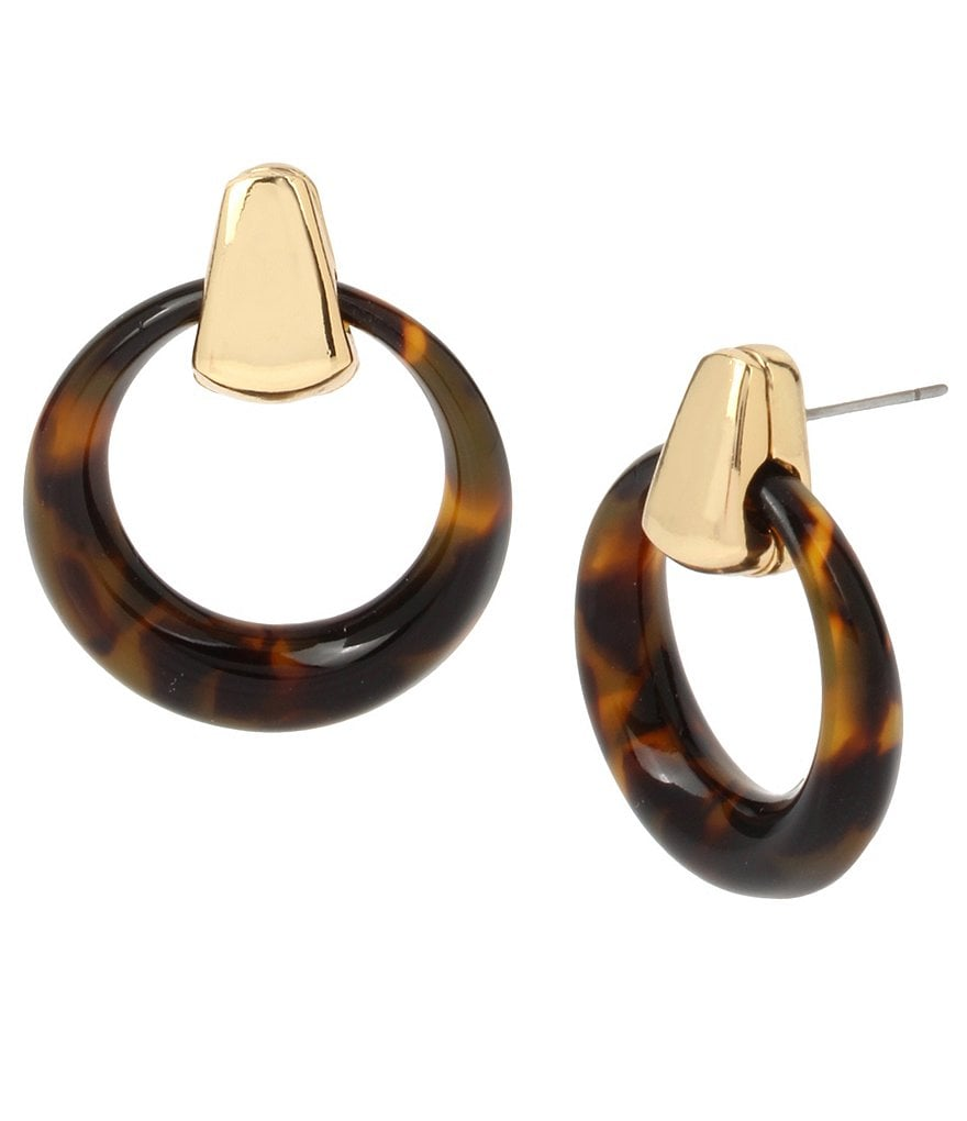 Robert Lee Morris Soho Tortoise Hoop Earrings