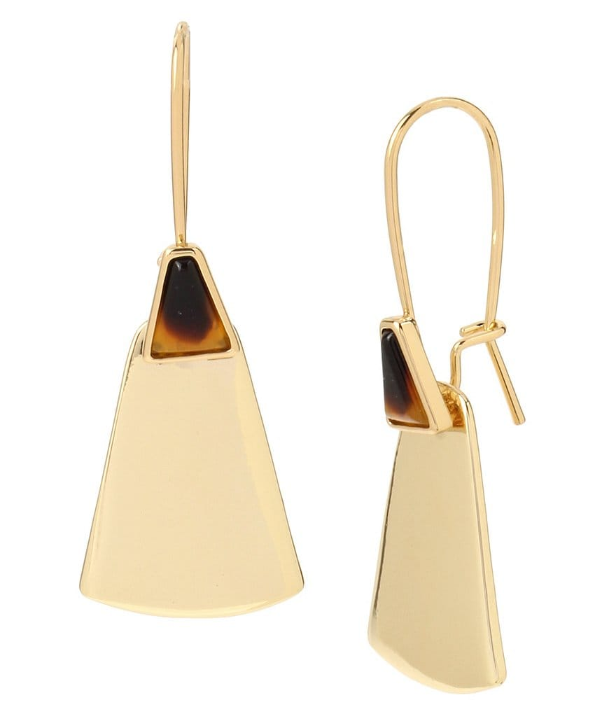 Robert Lee Morris Soho Tortoise Geometric Drop Earrings