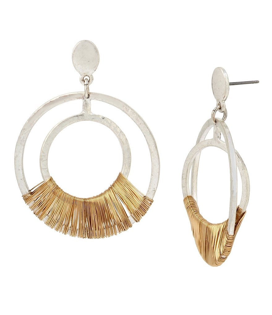 Robert Lee Morris Soho Wire-Wrapped Orbital Drop Earrings