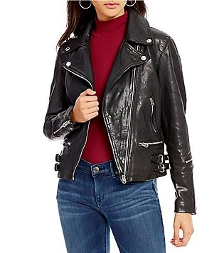 True Religion Genuine Leather Moto Jacket