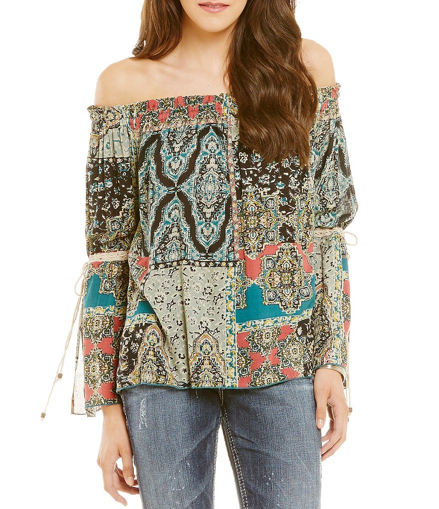 O´Neill Bennet Off-The-Shoulder Printed Blouse