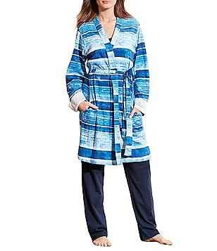 Lauren Ralph Lauren Striped Interlock Robe