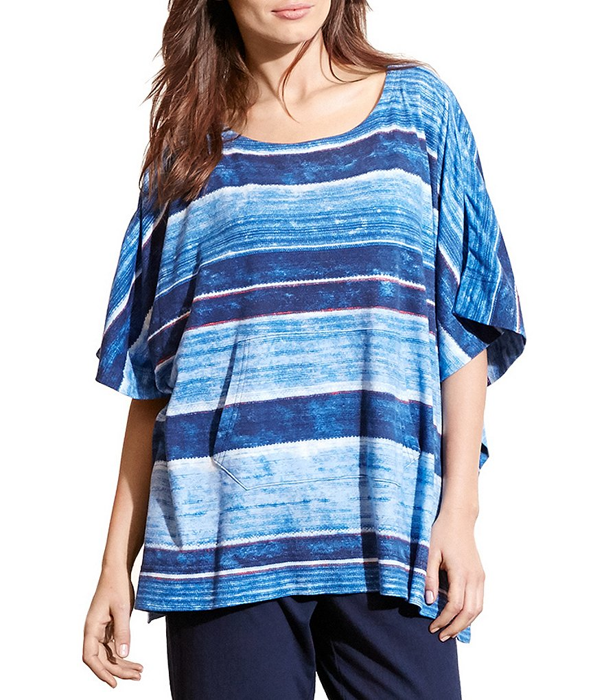 Lauren Ralph Lauren Striped Lounge Poncho