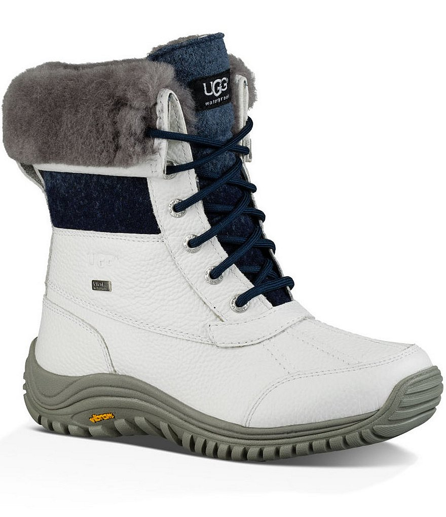 UGG® Adirondack II Cold-Weather Wool Cuff Lace Up Boots