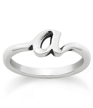 James Avery Sterling Silver Script Initial Ring