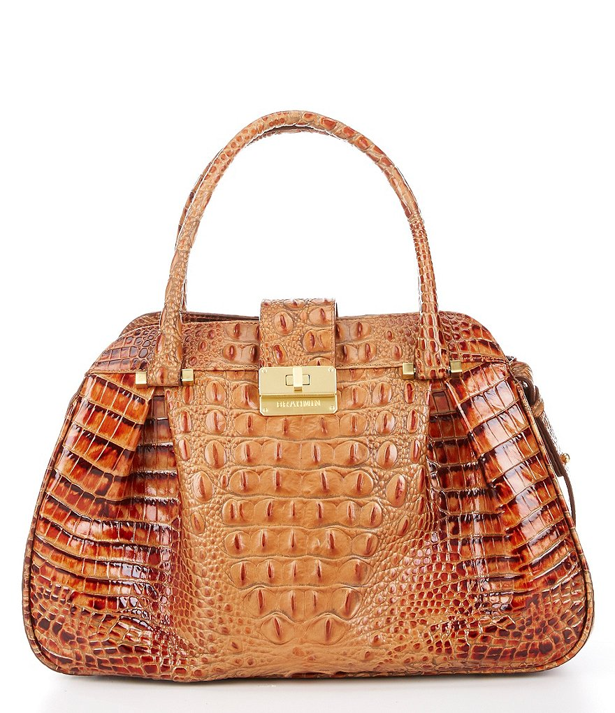 Brahmin Toasted Almond Collection Laura Satchel