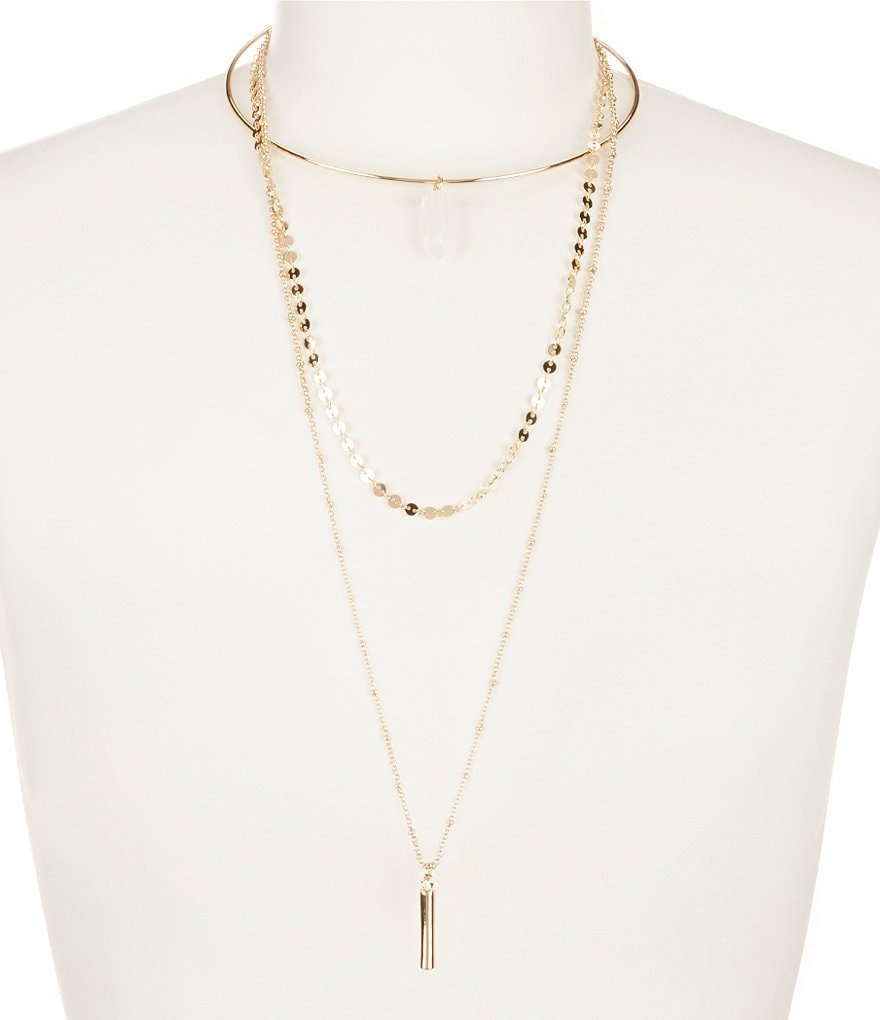 Anna & Ava 3-Row Necklace