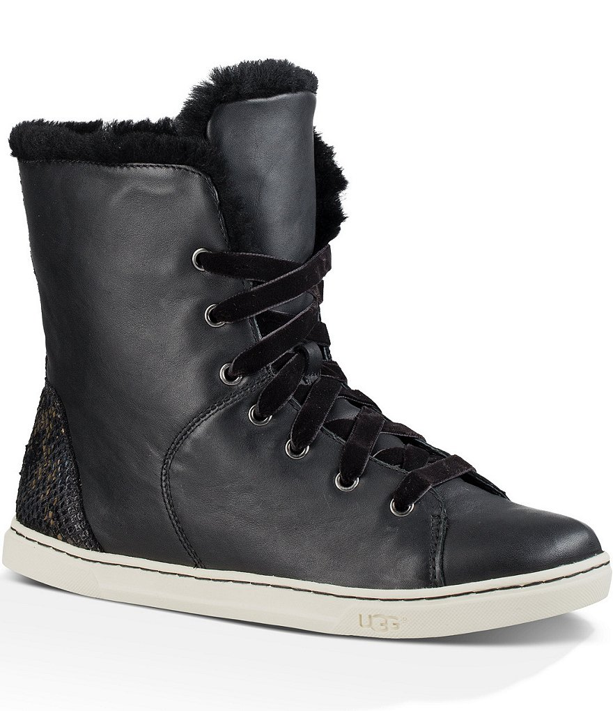 UGG® Croft Exotic Velvet Cuff-Able Lace-Up Sneakers