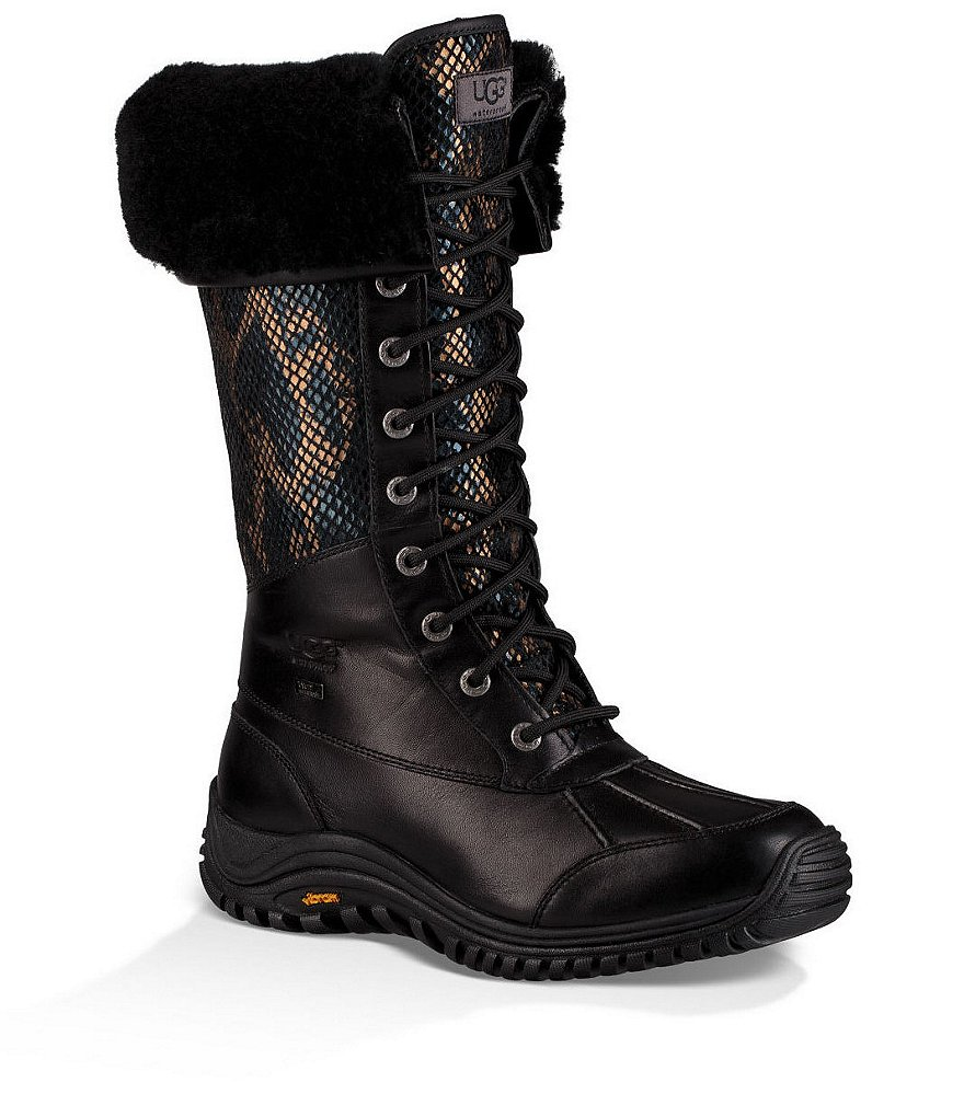 UGG® Adirondack Tall Exotic Velvet Lace-Up Boots