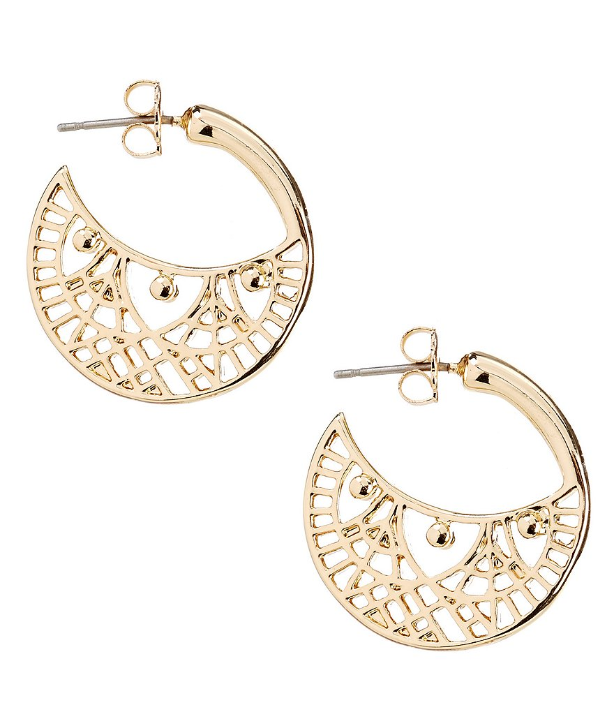 Anna & Ava Openwork Hoop Earrings