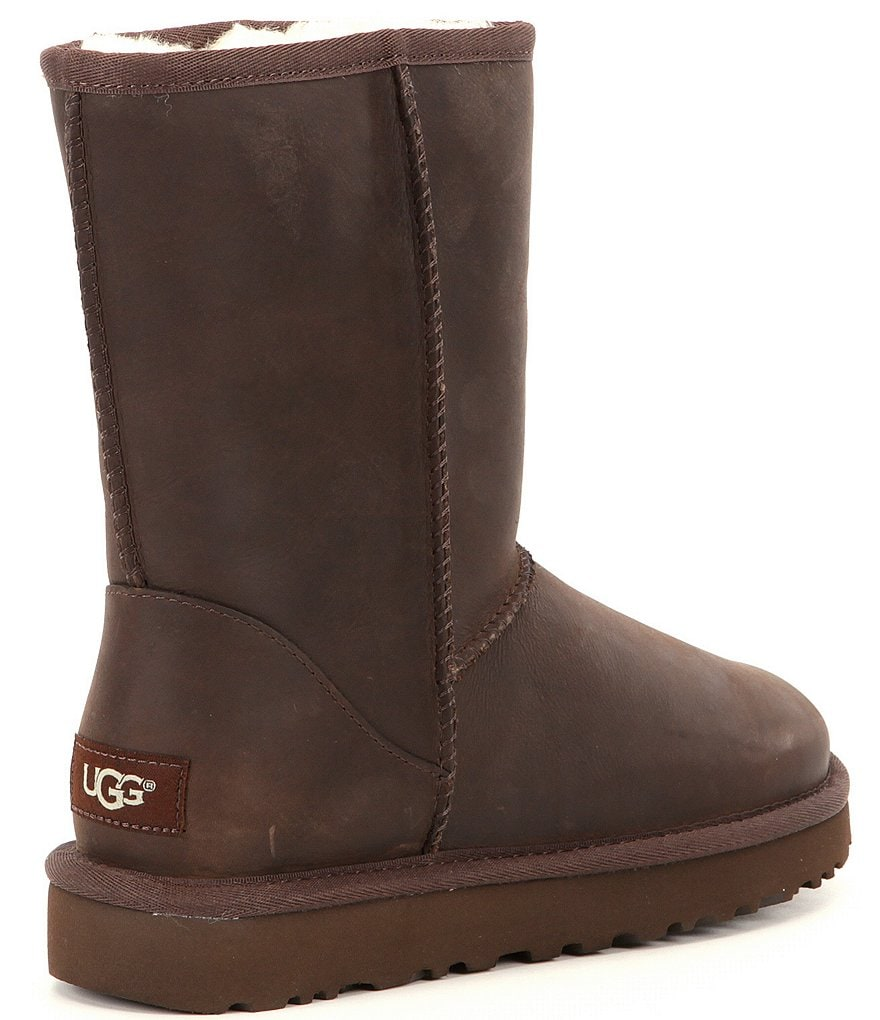 Brownstone:UGG® Classic Short Water-Resistant Leather Boots