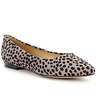 Trotters Signature Estee Cheetah-Print Leather Flats