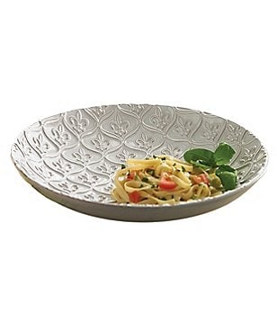 Mud Pie France Collection Fleur de Lis Terracotta Pasta Bowl