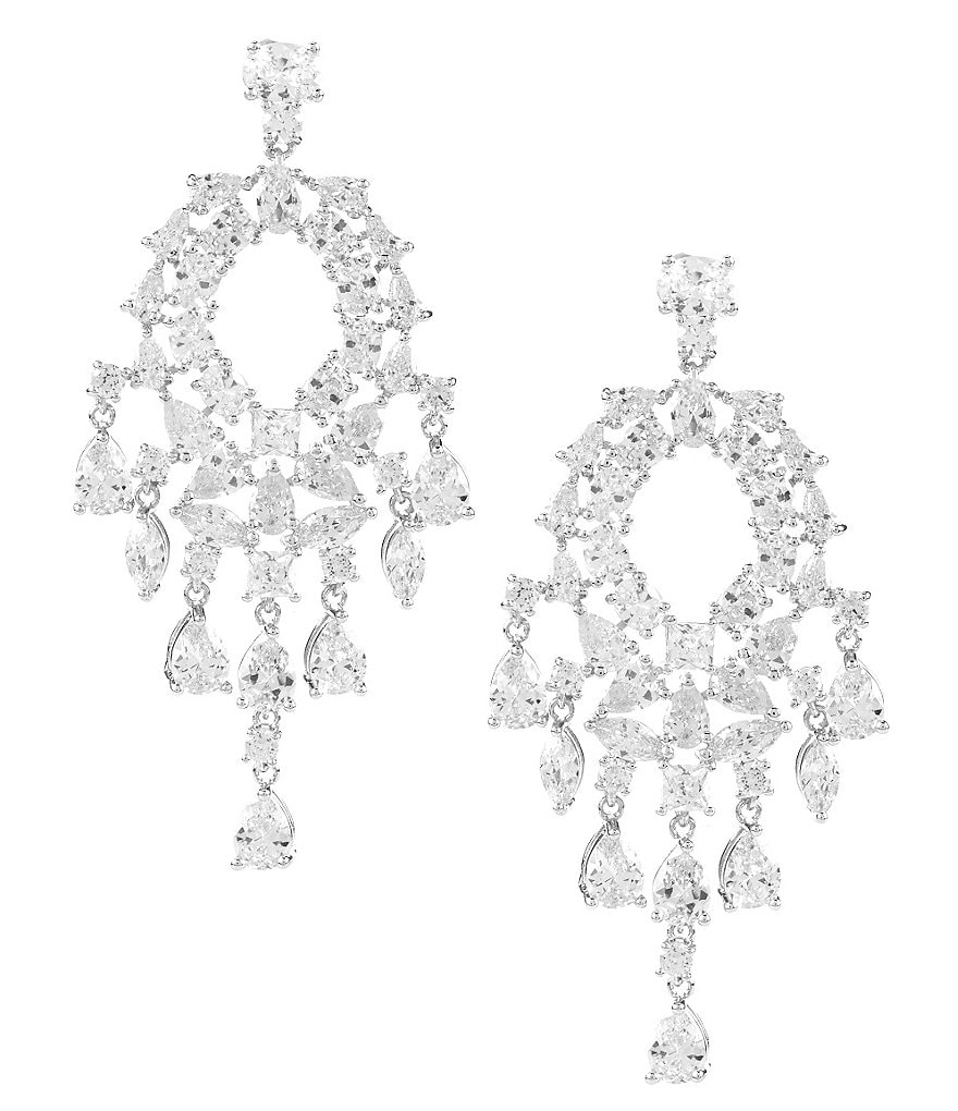 C by Cezanne Teardrop Chandelier Earrings