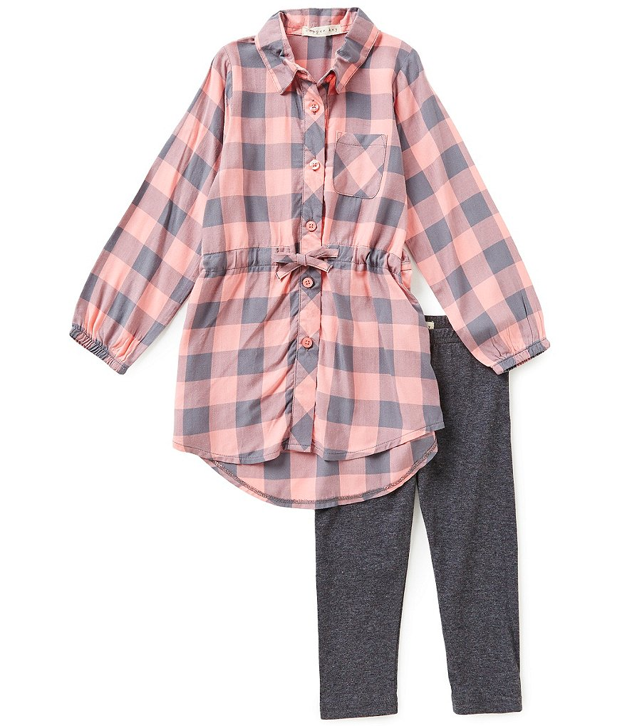 Copper Key Little Girls 2T-6X Tunic and Leggings Set