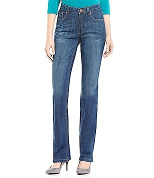Jones New York Lexington Stretch Denim Straight-Leg Jeans