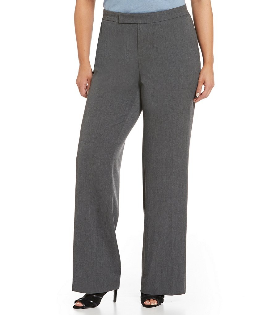 Lauren Ralph Lauren Plus Stretch Twill Flared Pant